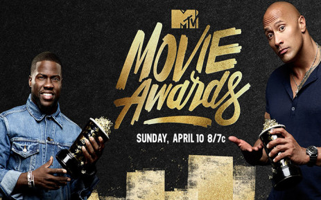 """The 25th annual MTV Movie Awards kicked off with one helluva opening, thanks to cohosts Dwayne """"The Rock"""" Johnson and Kevin Hart. Picture: MTV Facebook page"""