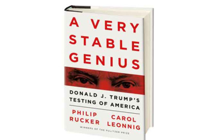 'A Very Stable Genius: Donald J. Trump's Testing of America', the new book by Carol Leonnig and Philip Rucker. Picture: Twitter/@PhilipRucker