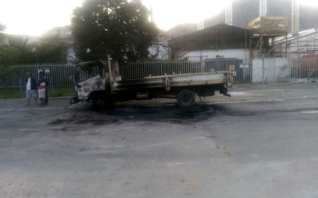 A truck was torched during a housing protest in Hout Bay on 17 September 2019. Picture: Supplied
