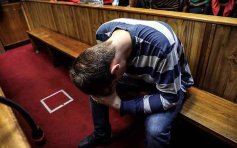 Nicholas Ninow, the man accused of raping a seven-year-old girl in a restaurant bathroom in Pretoria, appears in the Magistrates Court in Pretoria on 5 March 2019. Picture: Abigail Javier/EWN