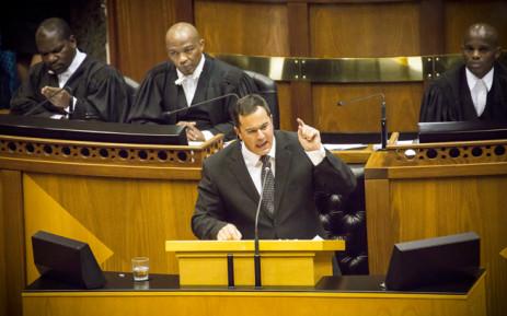 FILE: DA Chief Whip John Steenhuisen in Parliament. Picture: Thomas Holder/EWN