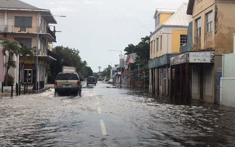 View of a flooded street in downtown Nassau on 4 September 2019. At least seven people have been killed in the Bahamas by Hurricane Dorian, Prime Minister Hubert Minnis said Tuesday, after the storm delivered a devastating blow to the islands. Picture: AFP