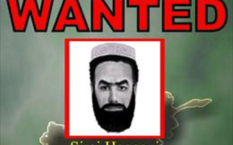 This undated handout picture received 20 October 2007 shows a poster which is soon to be put up in eastern Afghanistan, shows wanted militant Siraj Haqqani who the US military says is trying to rival Mullah Mohammad Omar for the Taliban leadership . The US-led coalition has issued a 200,000-USD reward for the arrest of Haqqani as part of a Most wanted compaign, which will see posters of about 12 wanted militants put up in the east in the coming weeks. Picture: AFP.