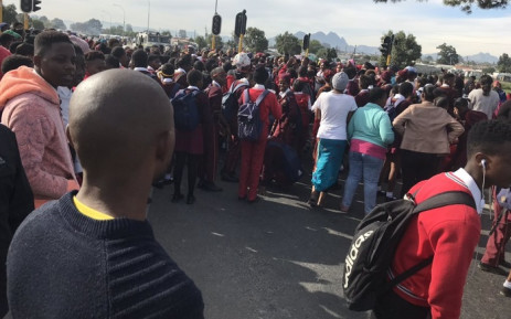 Wallacedene Secondary,  Hector Pietersen High and Masibambane High schools in the area have also been shut down following protests against overcrowding in schools. Picture: Lauren Isaacs/EWN