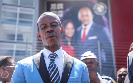 Pastor 'Mboro' outside the Alleluia International Ministries on 28 February 2019. Picture: Abigail Javier/EWN