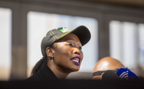 Deputy Minister of Telecommunications Stella Ndabeni-Abrahams at a communications briefing at the ANC national policy conference on 5 July 2017. Picture: Thomas Holder/EWN.