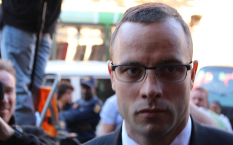 Oscar Pistorius is seen at the High Court in Pretoria on 21 October 2014. He was sentenced to five years imprisonment for the culpable homicide killing of his girlfriend Reeva Steenkamp. Picture: Pool.