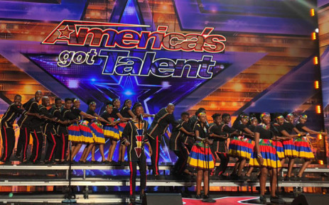 The Ndlovu Youth Choir at America's Got Talent show. Picture: Ndlovu Youth Choir.