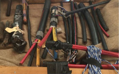 FILE: Cables used by Metrorail recovered following a law enforcement operation. Picture: EWN