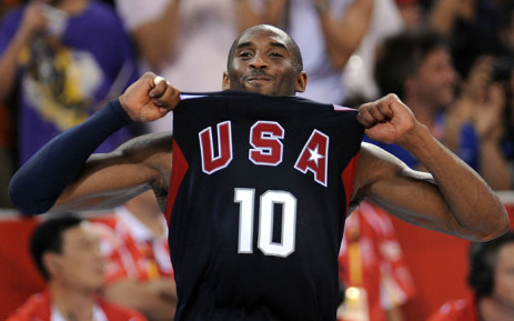 In this file photo taken on 24 August, USA's Kobe Bryant celebrates at the end of the men's basketball gold medal match Spain against The US of the Beijing 2008 Olympic Games at the Olympic basketball Arena in Beijing. Picture: AFP