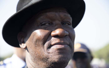 Former Police Minister Bheki Cele briefing the media at Loftus Versveld Stadium on 23 May ahead of the presidential inauguration on 25 May 2019. Picture: Christa Eybers/EWN