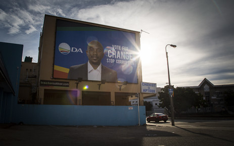A DA billboard on a busy street in Port Elizabeth is among several prominent posters the party erected in the run-up to the local government elections in 2016. Picture: Aletta Harrison/EWN