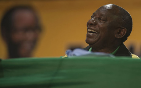 Cyril Ramaphosa delivers the closing address at the ANC's 54th national conference. Picture: Ihsaa Haffejee/EWN