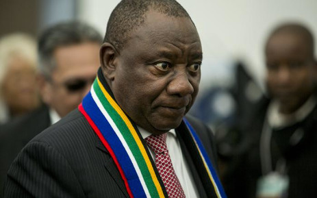 FILE: South Africa's Deputy President Cyril Ramaphosa talks to potential investors during discussions at a Brand South Africa briefing at the World Economic Forum in Switzerland on 17 January 2017. Picture: EWN