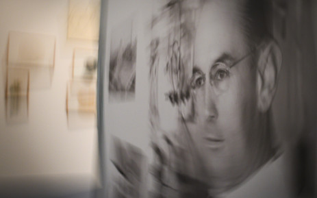 A portrait of late Swiss chemist Albert Hoffman at an exhibition entitled 'LSD, the 75 Years of a Problem Child' at the Swiss National Library on 21 September 2018 in Bern. Picture: AFP.
