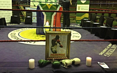 Baby Jake Matlala's memorial being setup at Nasrec Arena on 11 December 2013. Picture: Marc Lewis/EWN