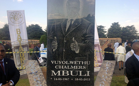 Vuyo Mbuli's tombstone at the Wespark Cemetary in Johannesburg. Picture: Christa van der Walt/EWN