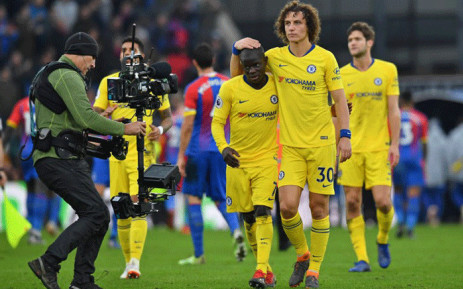 Chelsea's French midfielder N'Golo Kante and Chelsea's Brazilian defender David Luiz celebrate on the pitch after the English Premier League football match between Crystal Palace and Chelsea at Selhurst Park in south London on 30 December, 2018. Picture: AFP.