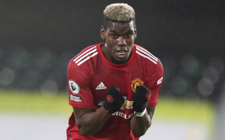 Manchester United midfielder Paul Pogba reacts at the final whistle during the English Premier League football match between Fulham and Manchester United at Craven Cottage in London on 20 January 2021. Picture: Peter Cziborra/AFP