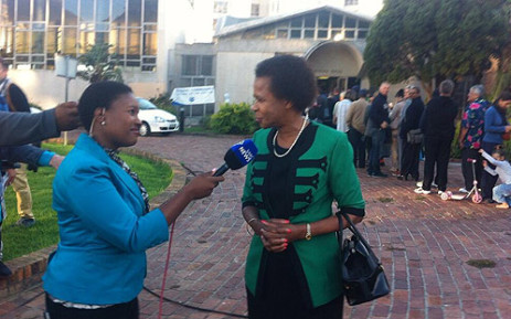Agang leader Dr Mamphela Ramphele after casting her vote at Sea Point Library in Cape Town. Picture: Graeme Raubenhiemer/EWN.