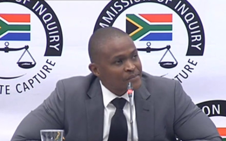 A YouTube screengrab shows Daniel Mahlangu, the sole director of BNP Capital, at the state capture commission on 28 June 2019.