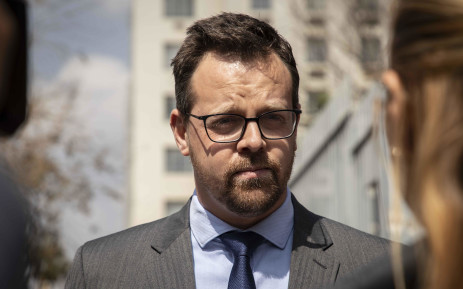 AfriForum's Ernst Roets outside the Johannesburg Magistrates Court on 21 August 2019. Picture: Abigail Javier/EWN