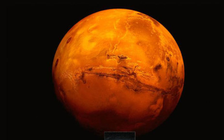 A CNN video screengrab of the planet Mars.