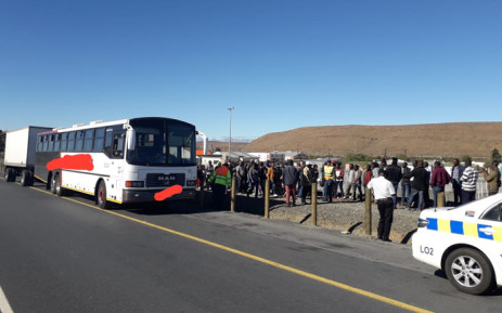 Western Cape Traffic officers on 8 June 2019 arrested a bus driver for overloading in Laingsburg. Picture: @jareater/Twitter