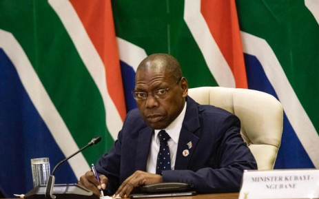 Health Minister Zweli Mkhize at an inter-ministerial briefing on 24 March 2020 detailing how government will respond ahead of and during the 21-day lockdown announced by President Cyril Ramaphosa. Picture: Kayleen Morgan/EWN.