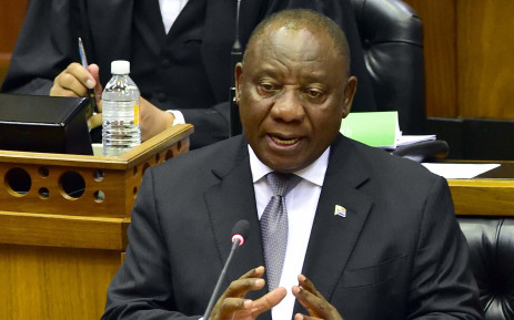 President Cyril Ramaphosa replying to questions orally in the National Assembly in Parliament on 6 November 2018. Picture: GCIS