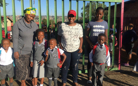 Pupils at the AB Xuma Primary School in Soweto have started making their way onto the premises for the first day of the academic year. Picture: EWN