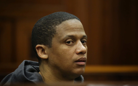 Alleged child killer Mortimer Saunders sits in court before he pleaded guilty to murdering three-year-old Courtney Pieters. Picture: Bertram Malgas/EWN
