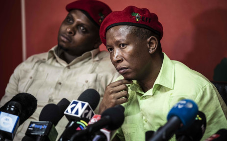 FILE: EFF leader Julius Malema and Floyd Shivambu. Picture: Abigail Javier/EWN