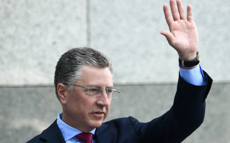 In this file photo taken on 27 July 2019 US Ambassador to NATO and US special envoy for Ukraine Kurt Volker waves as he arrives prior to a press-conference in Kiev following his visit in Ukraine. Kurt Volker, the US special envoy for Ukraine, resigned on 27 September 2019. Picture: AFP