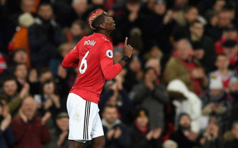 Manchester United's Paul Pogba celebrates his goal against Newcastle United in the English Premier League on 18 November 2017. Picture: Facebook.