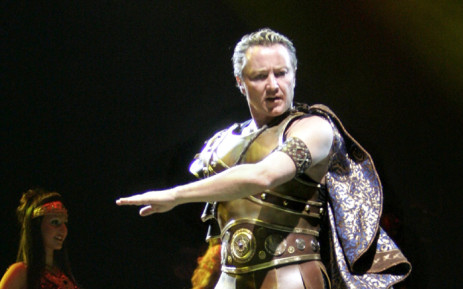 Celtic Tiger, superstar of Celtic dance, Michael Flatley performs in Helsinki. Picture: AFP.
