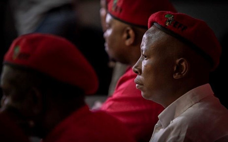 FILE: Economic Freedom Fighters leader Julius Malema during the media briefing at the party's headquarters in Braamfontein, Johannesburg on 16 May 2019. Picture: Sethembiso Zulu/EWN.