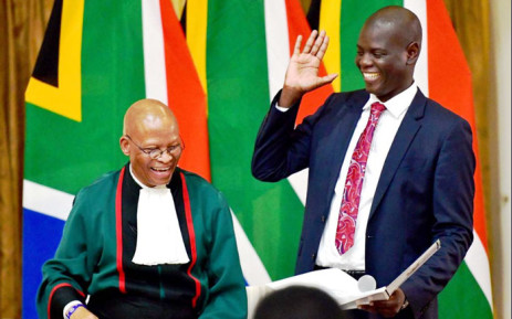 Ronald Lamola is sworn in as the Minister of Justice on 30 May 2019. Picture: @DOJCD_ZA/Twitter