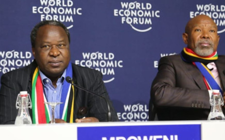 Finance minister Tito Mboweni with Reserve Bank Governor Lesetja Kganyago. Picture: Twitter/Tito Mboweni