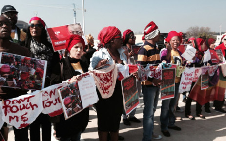 Hundreds of people took the the street in Sandton, Johannesburg, demanding the immediate release of over 200 girls in Nigeria on 8 May 2014. Picture: Sebabatso Mosamo/EWN.