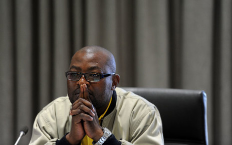 Cosatu's Dumisani Dakile at the economic impact of e-tolls hearings in Midrand, Wednesday, 27 August 2014. Picture: Sapa.
