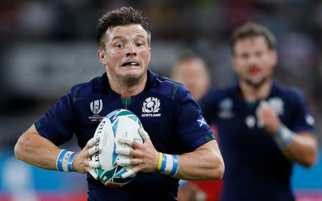 Scotland's scrum-half George Horne runs to score a try during the Japan 2019 Rugby World Cup Pool A match between Scotland and Russia at the Shizuoka Stadium Ecopa in Shizuoka on 9 October 2019. Picture: AFP