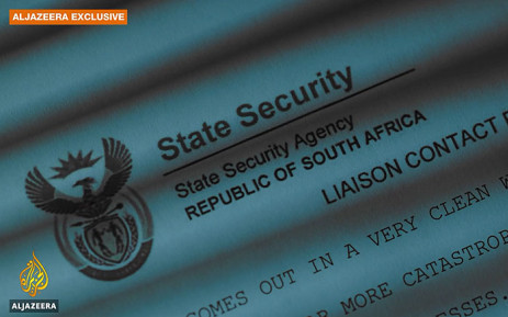 FILE: A screengrab from Al Jazeera's Spy Cables video shows a South African State Security leaked document.