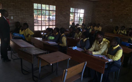 FILE: The principal of a school in Vuwani addressing matric students on a study camp this weekend. Picture: Kgothatso Mokgale/EWN.