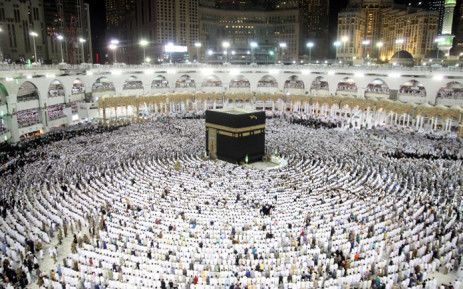 FILE: Muslim worshippers pray at the Kaaba, Islam's holiest shrine, at the Grand Mosque in Saudi Arabia's holy city of Mecca on 23 June 2017, during the last Friday of the holy month of Ramadan. Picture: AFP