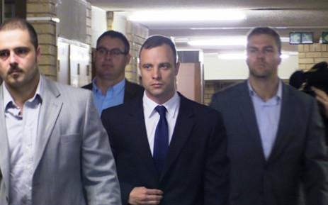 Oscar Pistorius arrives in court. Picture: Christa Van der Walt/EWN.