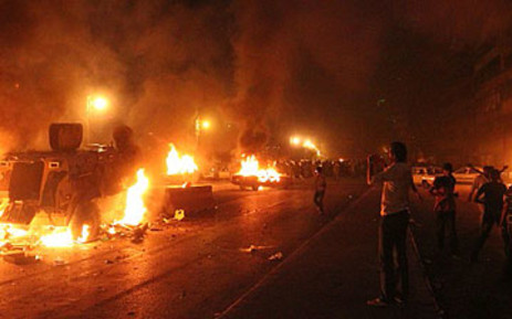 Violent clashes in Egypt. Picture: AFP