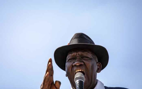 FILE: Minister of Police Bheki Cele addresses Westbury residents on issues of corrupt and poor policing in the area. Picture: Thomas Holder/EWN.