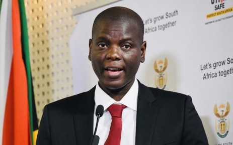 FILE: Justice and Correctional Services Minister Ronald Lamola addresses the media in Pretoria during a virtual Cabinet briefing on 6 August 2020. Picture: @GovernmentZA/Twitter