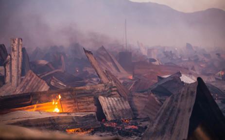 File: A fire at an informal settlement. Picture: chrispreenphotography.com